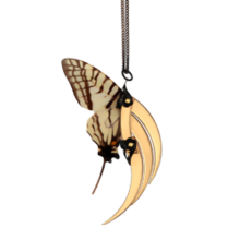 Swallowtail Butterfly Small Gold Wing Pendant