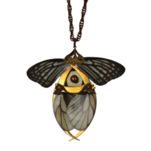 Gold Butterfly Necklace with Secret Blades