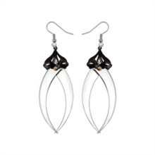 Blind Bite Silver Drop Earrings