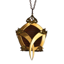 Gold Pentagon Cage Lizard Skin Medallion